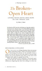 The Broken-Open Heart, Living with Faith and Hope by Parker J. Palmer