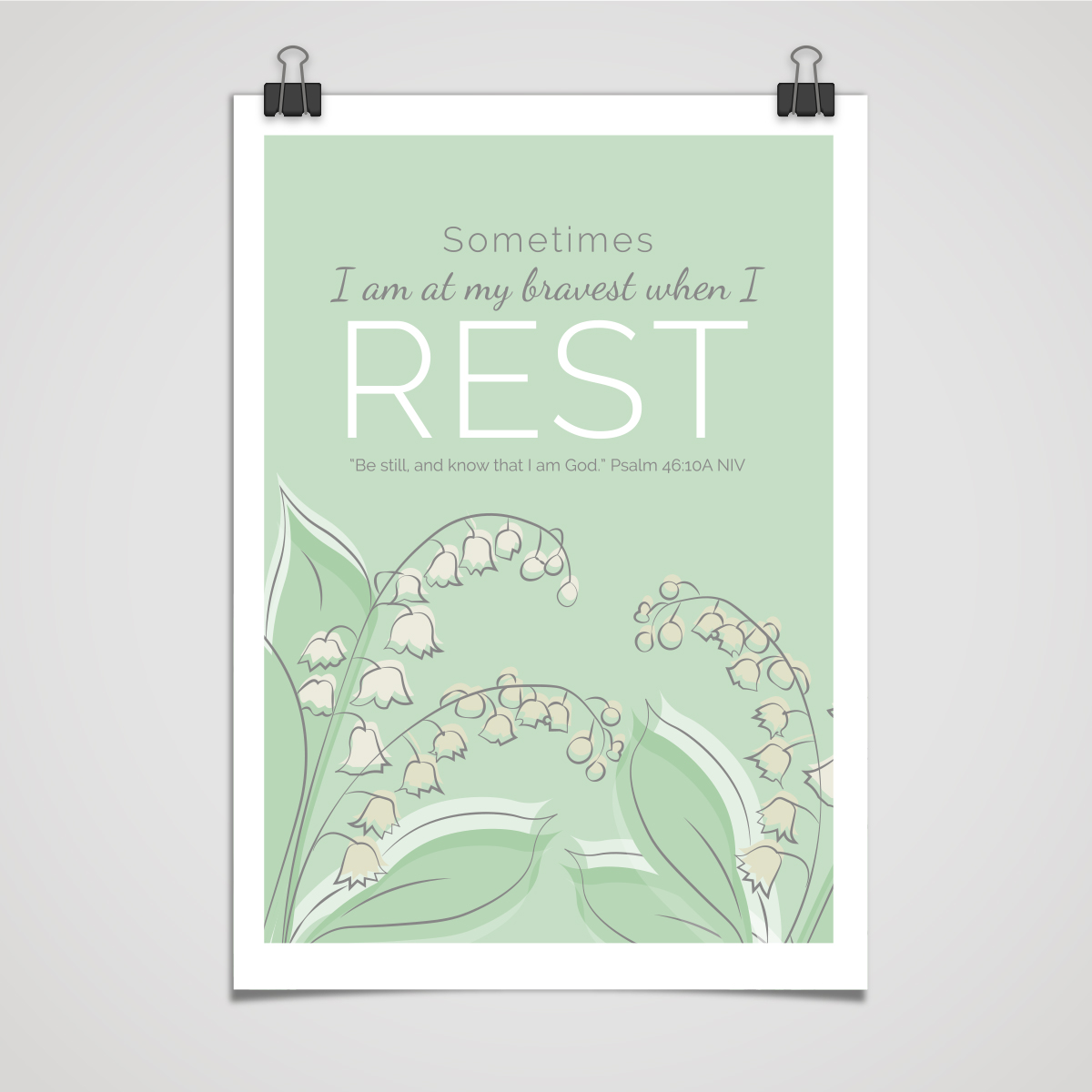 Sometimes I am at my Bravest When I Rest - Fine Art Print